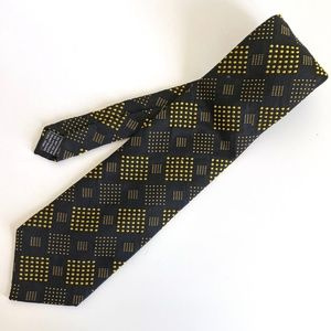 Gianni Versace Black Silk Tie Made in Italy